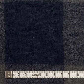 ウール×チェック(グレー&ネイビー)×ガーゼ_全3色 サムネイル4