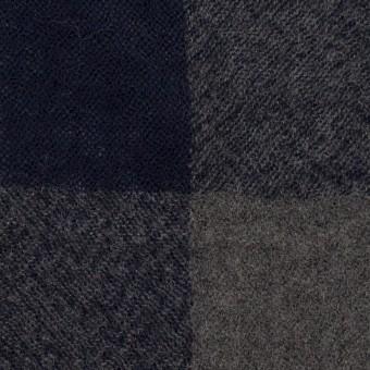 ウール×チェック(グレー&ネイビー)×ガーゼ_全3色