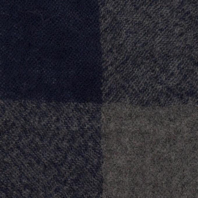 ウール×チェック(グレー&ネイビー)×ガーゼ_全3色 イメージ1