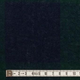 ウール×チェック(モスグリーン&ネイビー)×ガーゼ サムネイル4