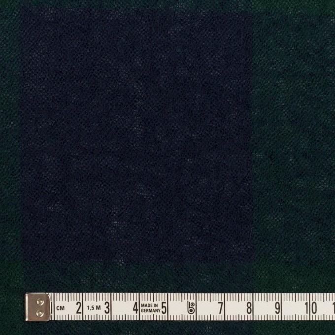 ウール×チェック(モスグリーン&ネイビー)×ガーゼ イメージ4