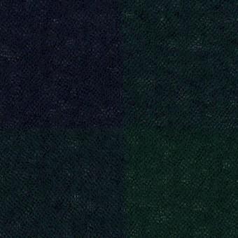 ウール×チェック(モスグリーン&ネイビー)×ガーゼ