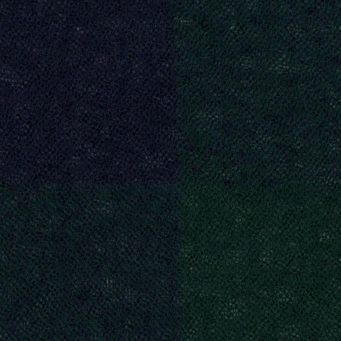 ウール×チェック(モスグリーン&ネイビー)×ガーゼ イメージ1
