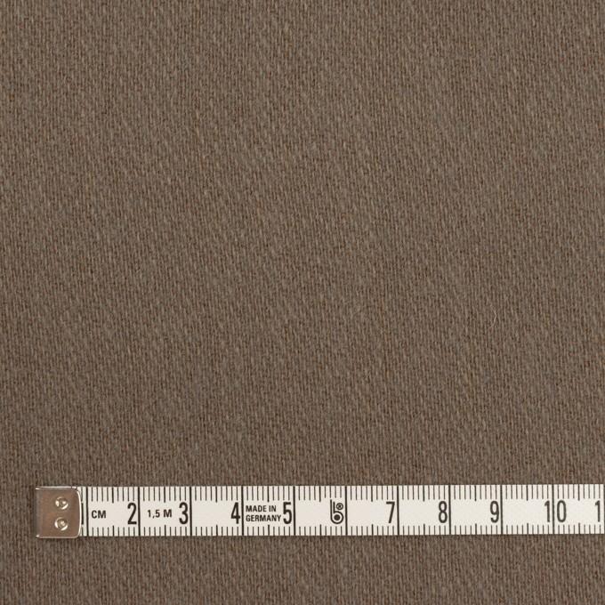 ウール&アクリル混×無地(モカブラウン)×かわり織_全2色 イメージ4