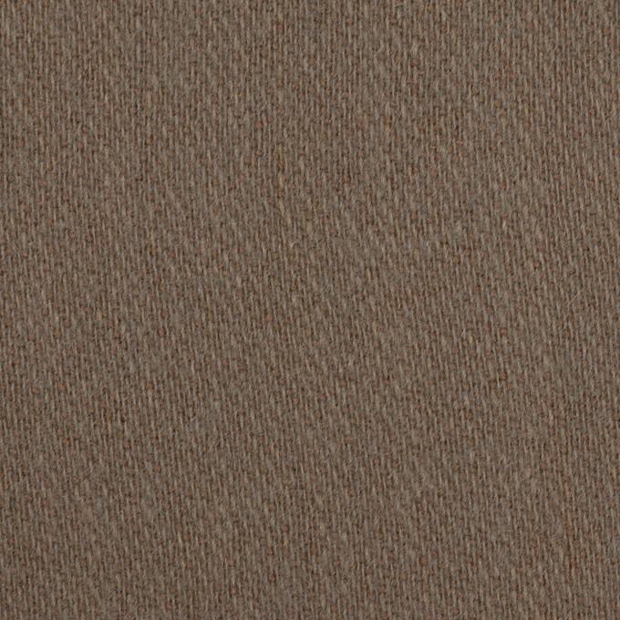 ウール&アクリル混×無地(モカブラウン)×かわり織_全2色 イメージ1