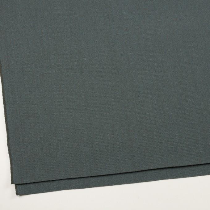 ウール&アクリル混×無地(スレートブルー)×かわり織_全2色 イメージ2
