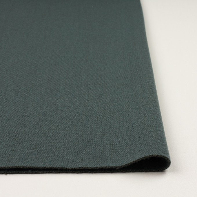 ウール&アクリル混×無地(スレートブルー)×かわり織_全2色 イメージ3