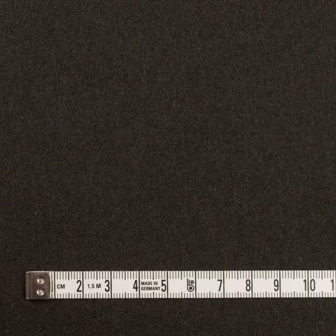 ウール×無地(ディープグリーン)×Wフェイス・フラノ イメージ4