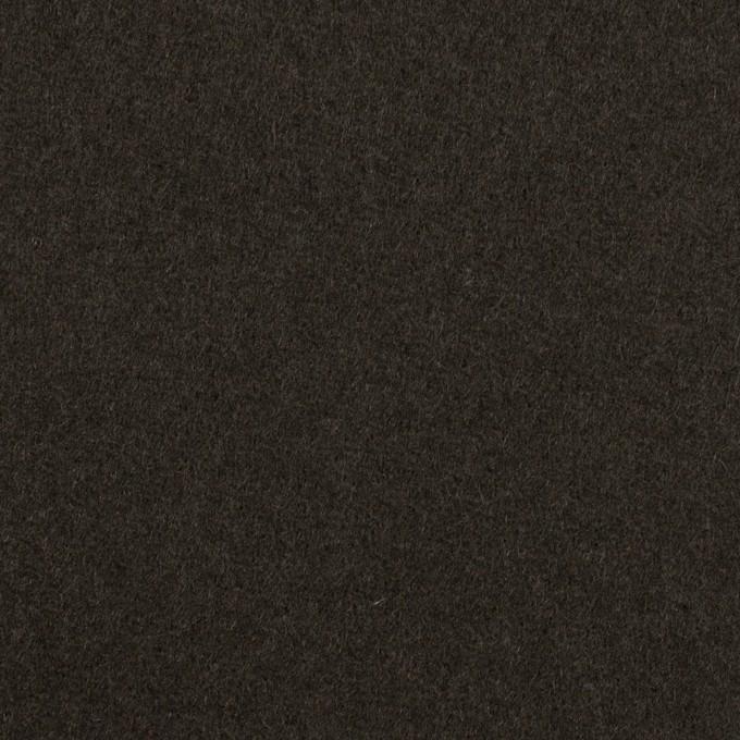 ウール×無地(ディープグリーン)×Wフェイス・フラノ イメージ1