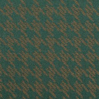 ポリエステル&アクリル×千鳥格子(モスグリーン&ゴールド)×ジャガード