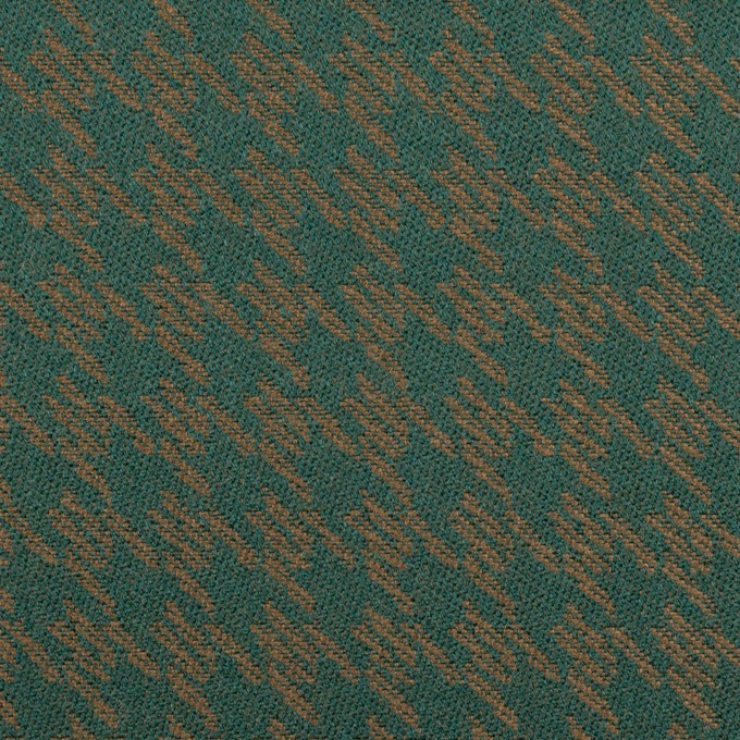 ポリエステル&アクリル×千鳥格子(モスグリーン&ゴールド)×ジャガード イメージ1