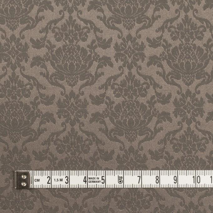 ポリエステル&コットン混×幾何学模様(アッシュカーキ)×サテンジャガード・ストレッチ イメージ4