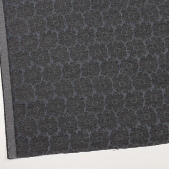 ウール&ポリエステル×フラワー(チャコールグレー&ブルーグレー)×二重織ジャガード サムネイル2