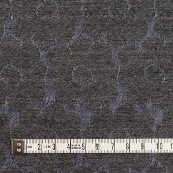 ウール&ポリエステル×フラワー(チャコールグレー&ブルーグレー)×二重織ジャガード サムネイル4