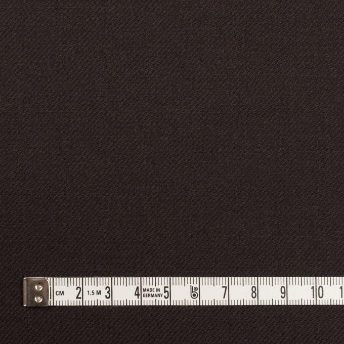 ウール×無地(ダークブラウン)×サージ イメージ4