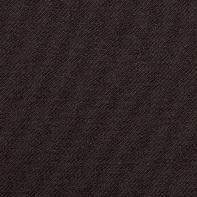 ウール×無地(ダークブラウン)×サージ イメージ1