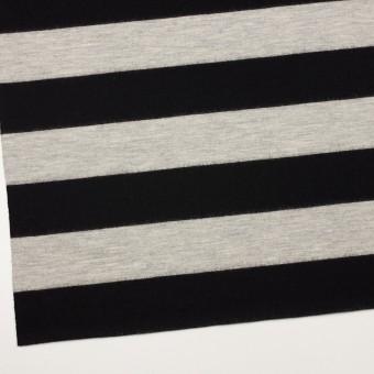ウール×ボーダー(オイスターグレー&ブラック)×天竺ニット サムネイル2