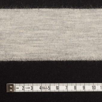 ウール×ボーダー(オイスターグレー&ブラック)×天竺ニット サムネイル4