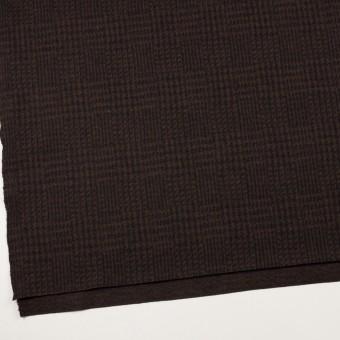 ウール×チェック(ブラウン&ブラック)×圧縮ニット サムネイル2