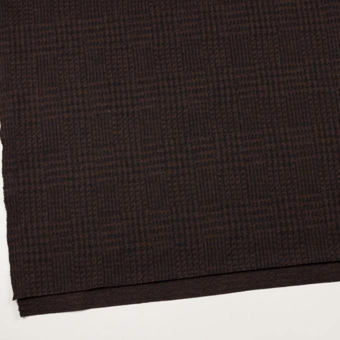 ウール×チェック(ブラウン&ブラック)×圧縮ニット イメージ2