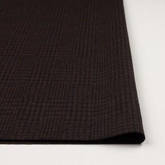 ウール×チェック(ブラウン&ブラック)×圧縮ニット サムネイル3