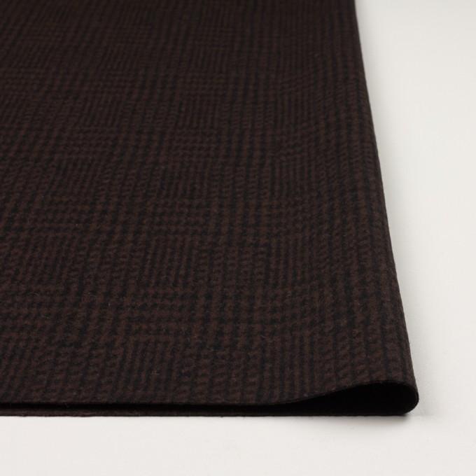 ウール×チェック(ブラウン&ブラック)×圧縮ニット イメージ3