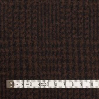ウール×チェック(ブラウン&ブラック)×圧縮ニット サムネイル4