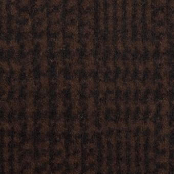 ウール×チェック(ブラウン&ブラック)×圧縮ニット