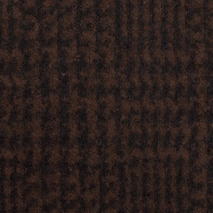 ウール×チェック(ブラウン&ブラック)×圧縮ニット イメージ1