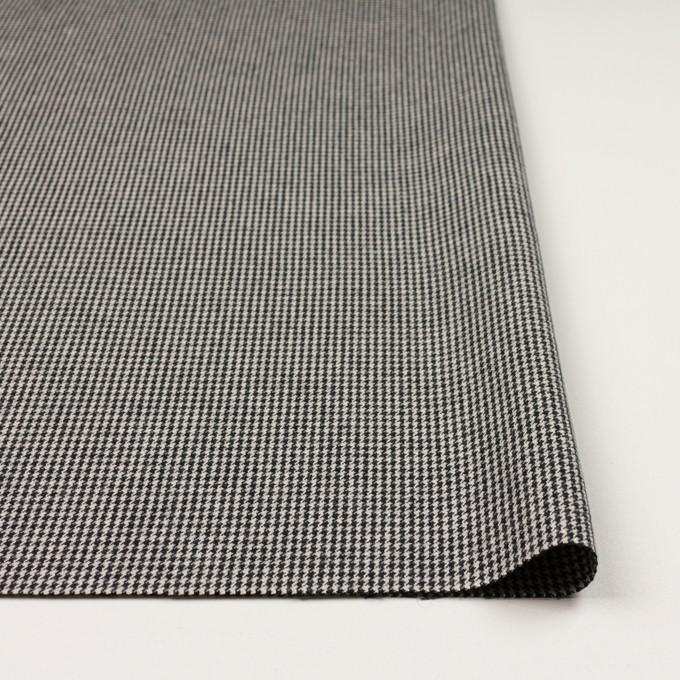 コットン×チェック(アイボリー&ブラック)×千鳥格子 イメージ3
