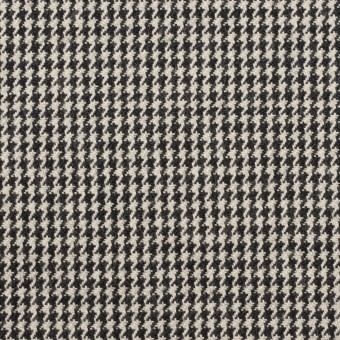 コットン×チェック(アイボリー&ブラック)×千鳥格子 サムネイル1
