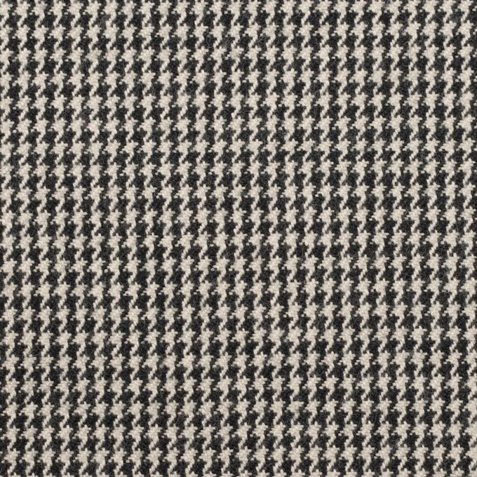 コットン×チェック(アイボリー&ブラック)×千鳥格子 イメージ1