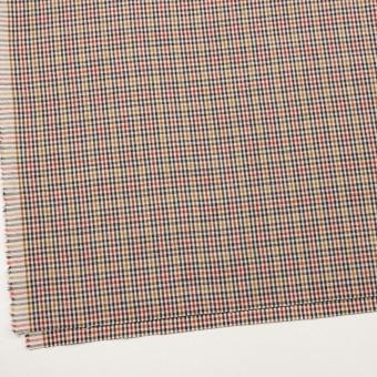 ウール&コットン混×チェック(エクリュ、レンガ&マスタード)×キャンバス_全2色 サムネイル2