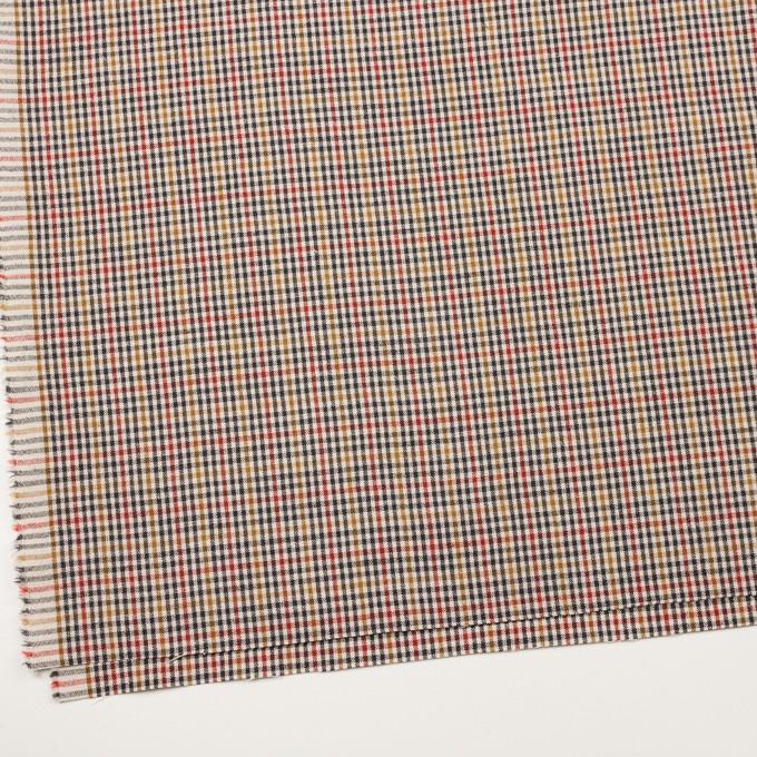 ウール&コットン混×チェック(エクリュ、レンガ&マスタード)×キャンバス_全2色 イメージ2