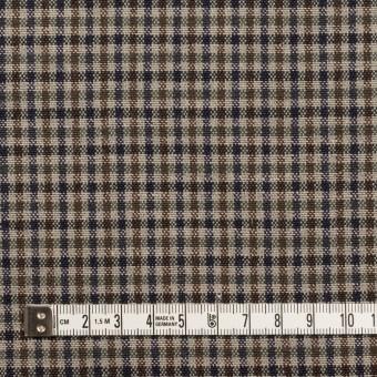 ウール&コットン混×チェック(ブルー、ネイビー&ブラウン)×キャンバス_全2色 サムネイル4