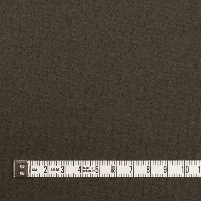 ウール×無地(アッシュカーキグリーン)×圧縮ニット イメージ4