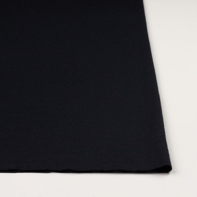 ウール×無地(ダークネイビー)×スムースニット イメージ3