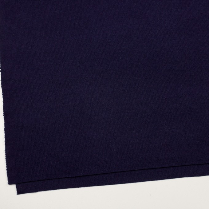 ウール&アンゴラ混×無地(プルシアンブルー)×リブニット イメージ2