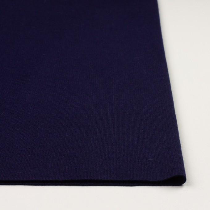 ウール&アンゴラ混×無地(プルシアンブルー)×リブニット イメージ3