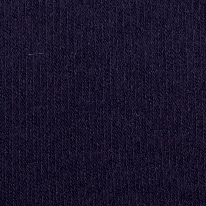 ウール&アンゴラ混×無地(プルシアンブルー)×リブニット イメージ1