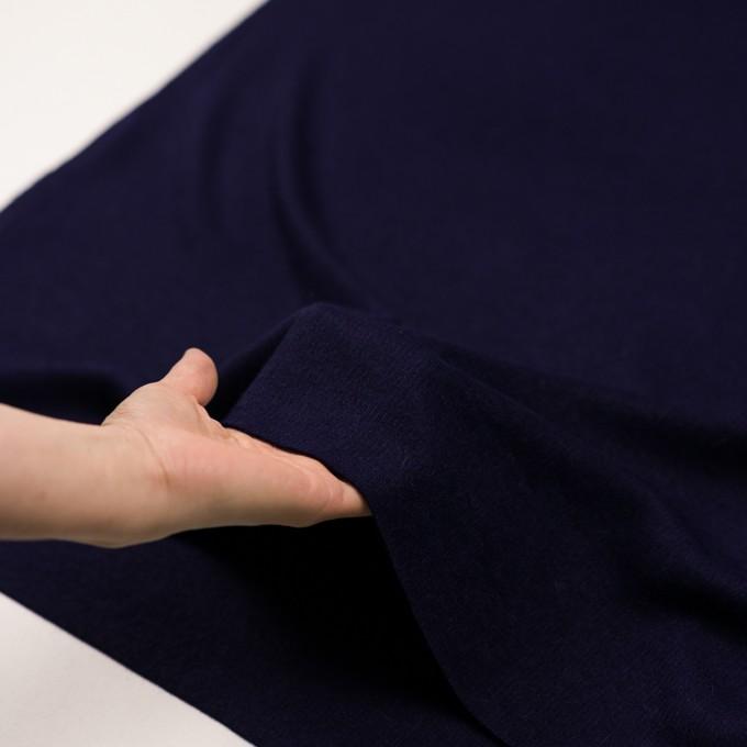 ウール&アンゴラ混×無地(プルシアンブルー)×リブニット イメージ5