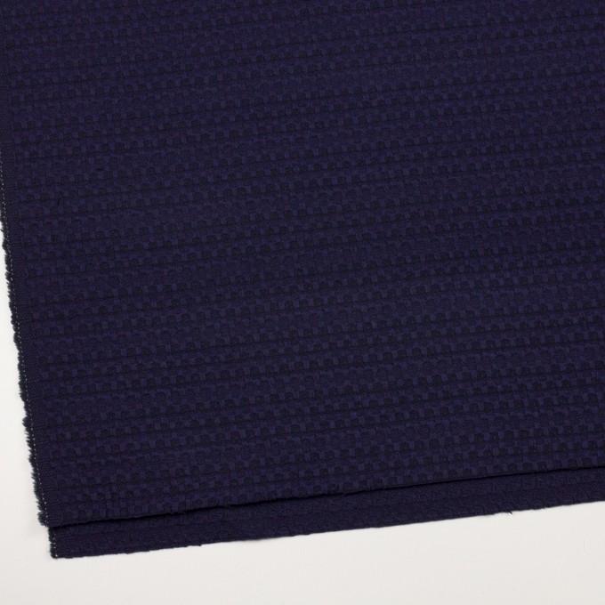 ウール×ミックス(バイオレット&ブラック)×かわり織 イメージ2