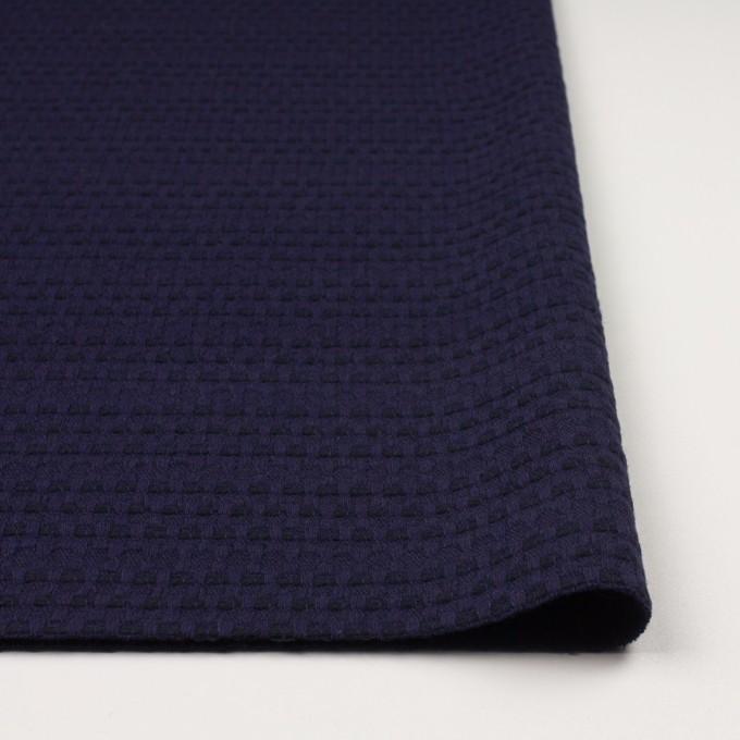 ウール×ミックス(バイオレット&ブラック)×かわり織 イメージ3