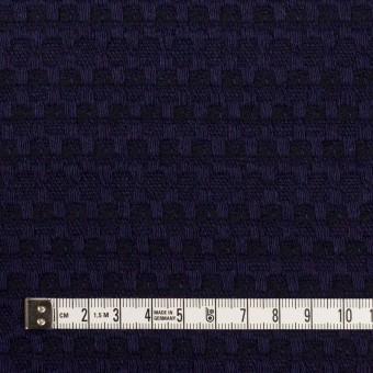 ウール×ミックス(バイオレット&ブラック)×かわり織 サムネイル4