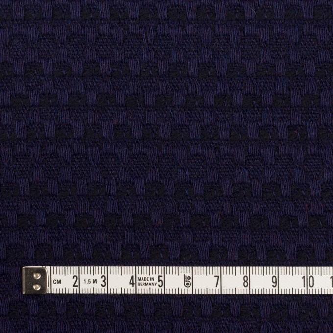 ウール×ミックス(バイオレット&ブラック)×かわり織 イメージ4