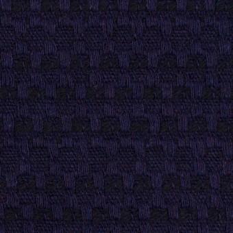 ウール×ミックス(バイオレット&ブラック)×かわり織 サムネイル1