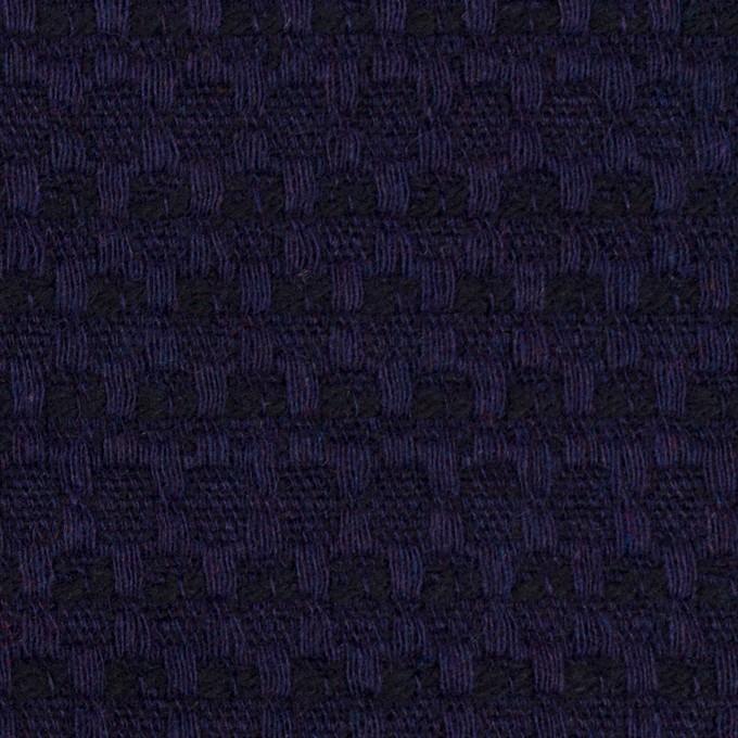 ウール×ミックス(バイオレット&ブラック)×かわり織 イメージ1