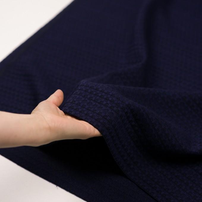 ウール×ミックス(バイオレット&ブラック)×かわり織 イメージ5