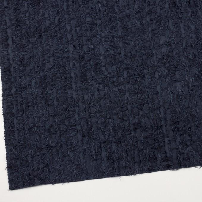 ポリエステル&レーヨン混×ストライプ(プルシアンブルー)×ジャガード イメージ2