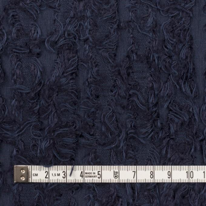 ポリエステル&レーヨン混×ストライプ(プルシアンブルー)×ジャガード イメージ4